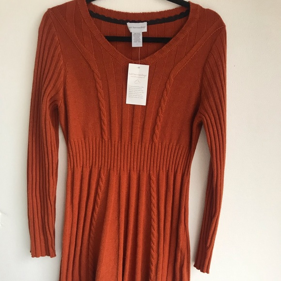 215c1765ad0 Soft surroundings orange sweater dress Large NEW